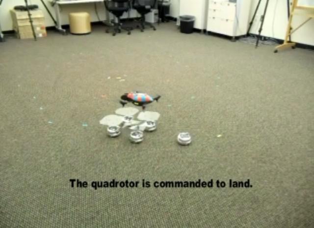 Роботизированная посадочная площадка (видео)